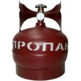 Баллон газовый 5 литров (стальной с вентилем, Крым)
