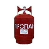 Баллон газовый 18 литров (стальной, с вентилем, Крым)