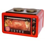 Мини-печь AKEL AF-752 R красная