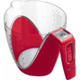 Весы Viconte VC-518 кухонные_электронные   форма стакан   белый с красным
